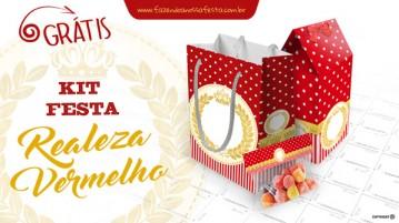 Kit Festa Realeza Vermelho - Grátis