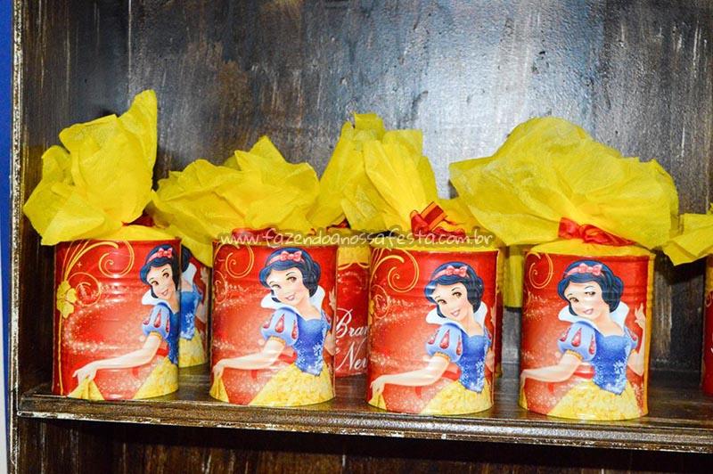 Lata de leite Festa Branca de Neve Cute da Maria