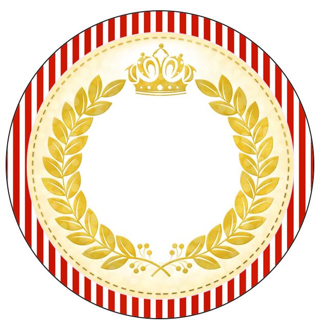 Latinhas ou toppers Realeza Vermelho