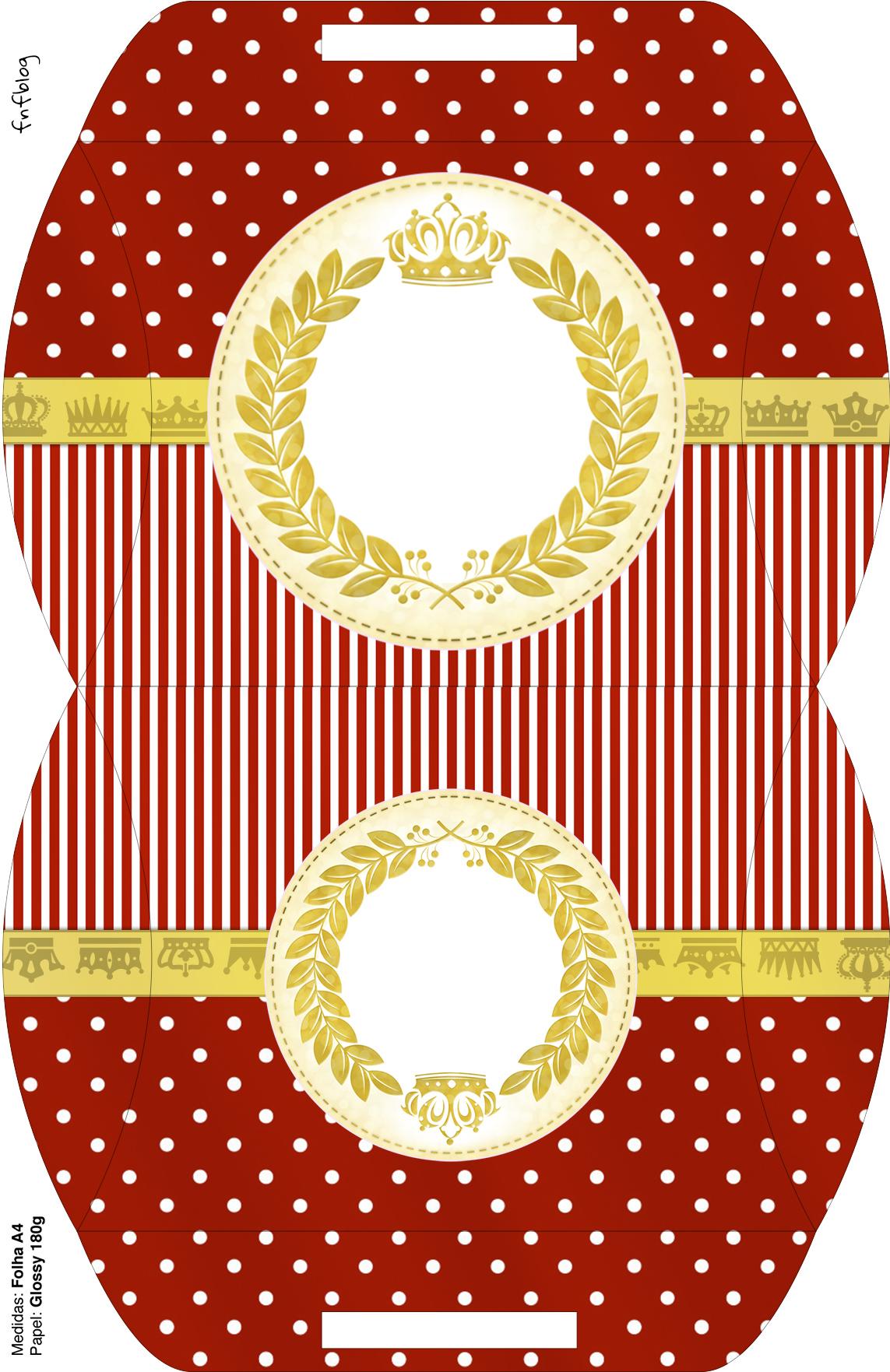 Maleta Kit Festa Realeza Vermelho