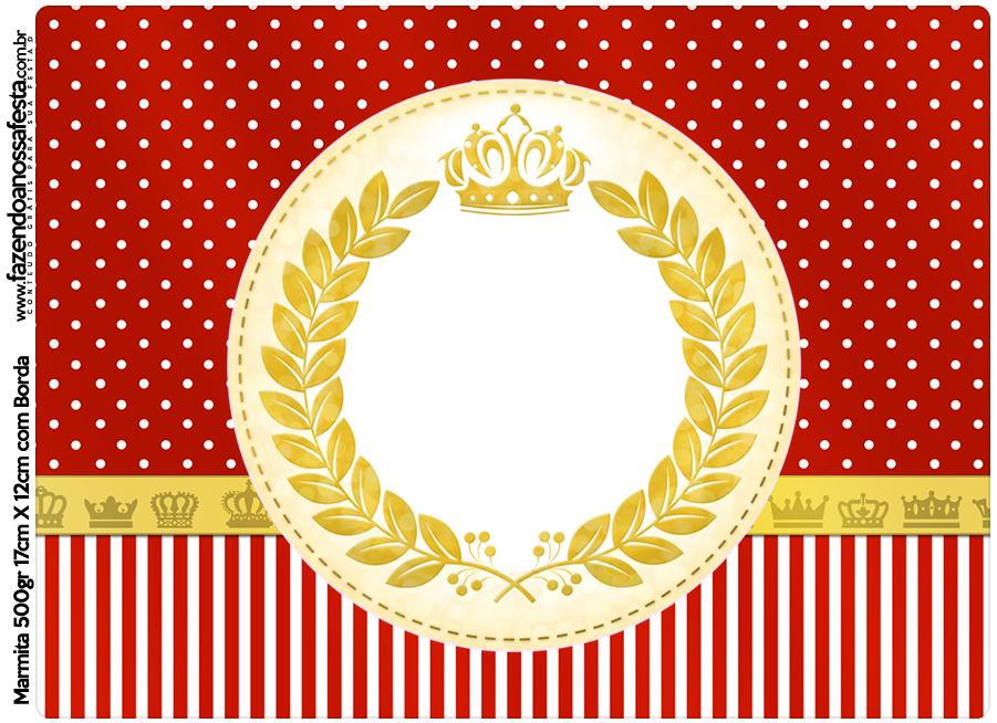Marmita 500gr Realeza Vermelho