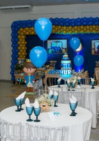 Mesa dos convidados -Ideias Festa Príncipe Arthur