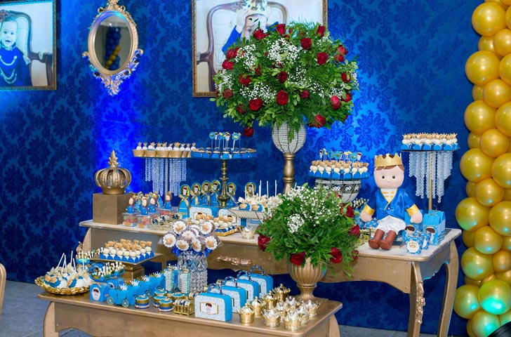 Mesa dos doces - Ideias Festa Príncipe Arthur