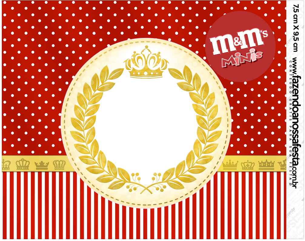 Mini M&M Realeza Vermelho