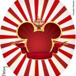Molde Tubete Oval Mickey Circo