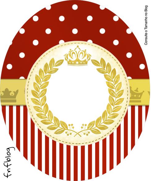 Molde Tubete Oval Realeza Vermelho