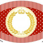 Placa Elipse Realeza Vermelho