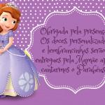 Plaquinha Mesa de Guloseimas - Princesinha Sofia