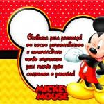 Plaquinha para Mesa dos doces - Mickey