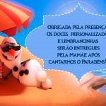 Plaquinha para mesa de guloseimas - Olaf
