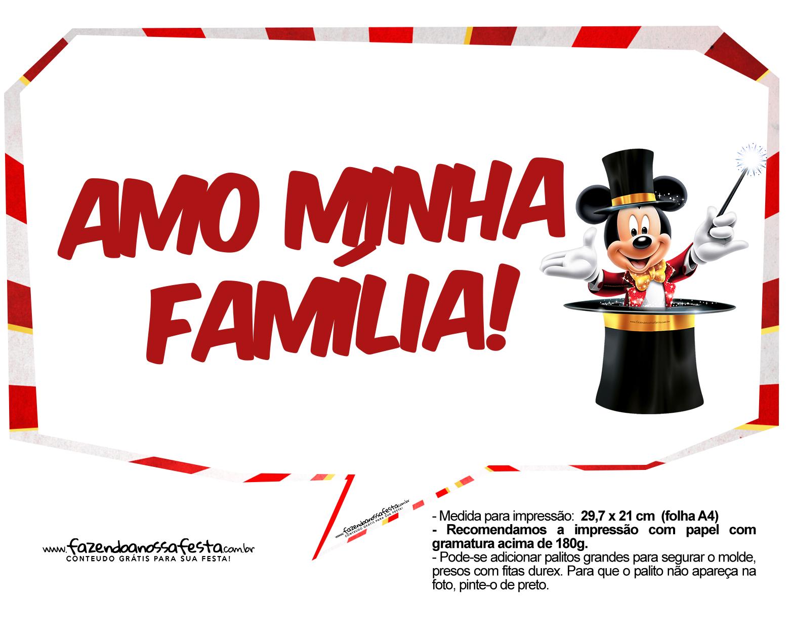Plaquinhas divertidas Mickey Circo 14