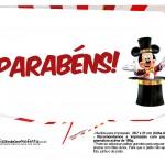 Plaquinhas divertidas Mickey Circo