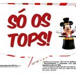 Plaquinhas divertidas Mickey Circo 16
