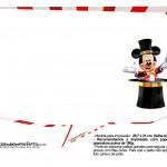 Plaquinhas divertidas Mickey Circo 24