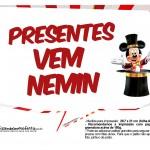 Plaquinhas divertidas Mickey Circo 4