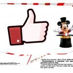 Plaquinhas divertidas Mickey Circo 6