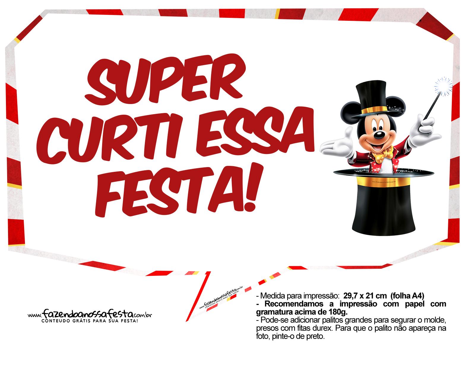 Plaquinhas divertidas Mickey Circo 7