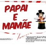 Plaquinhas divertidas Mickey Circo 9