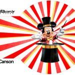 Porta Guardanapos 2 Mickey Circo