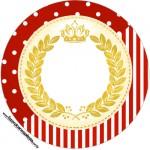 Tubetes, Toppers e Latinha Festa Realeza Vermelho