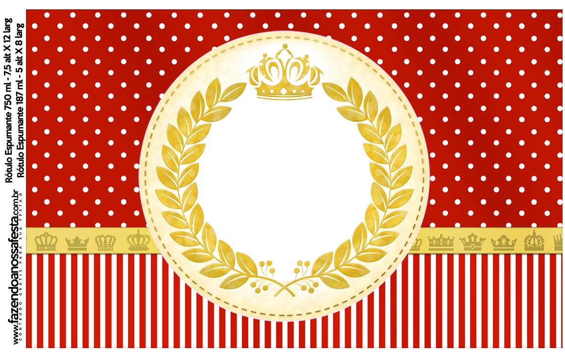 Rotulo Espumante Realeza Vermelho