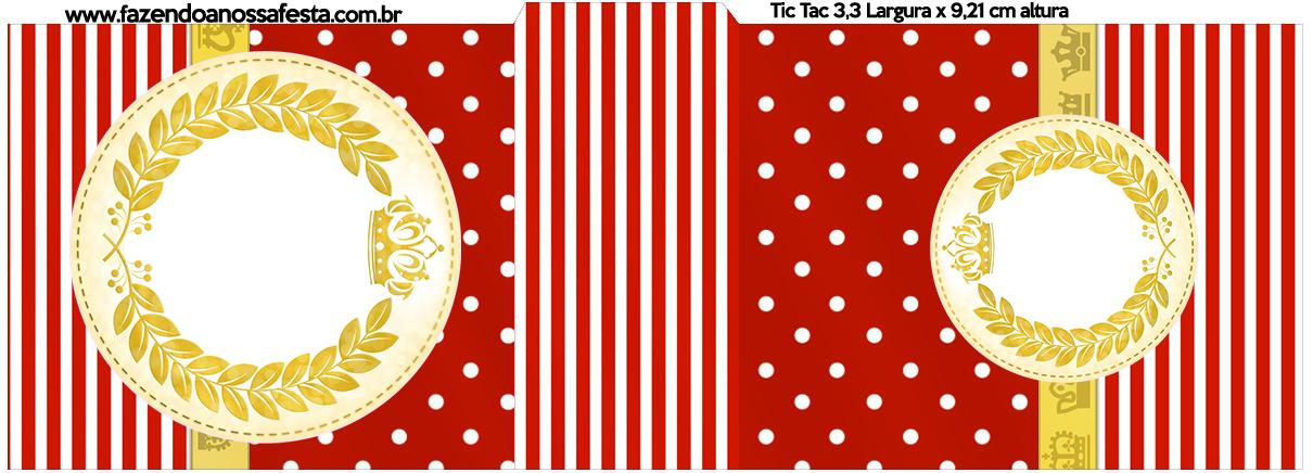 Rotulo Tic Tac Realeza Vermelho