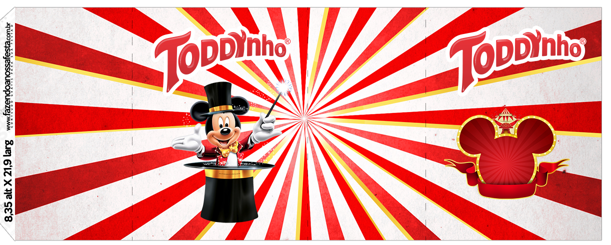 Rotulo Toddynho Mickey Circo