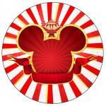 Rotulo para tubetes e latinhas Kit Festa Mickey Circo