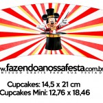 Saia Wrapper para Cupcake Kit Festa Mickey Circo