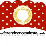 Saias Wrappers para Cupcakes 2 Realeza Vermelho