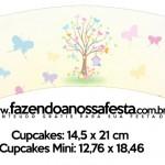 Saias Wrappers para Cupcakes Jardim das Borboletas