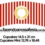 Saias Wrappers para Cupcakes Realeza Vermelho