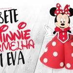 Tubete Minnie Vermelha em EVA