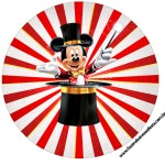 Tubete e topper Kit Festa Mickey Circo