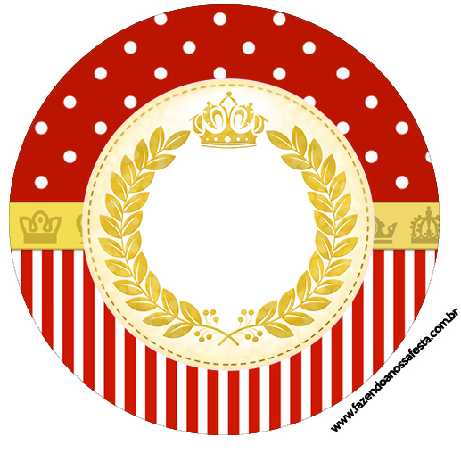Tubetes, toppers e Latinhas Realeza Vermelho