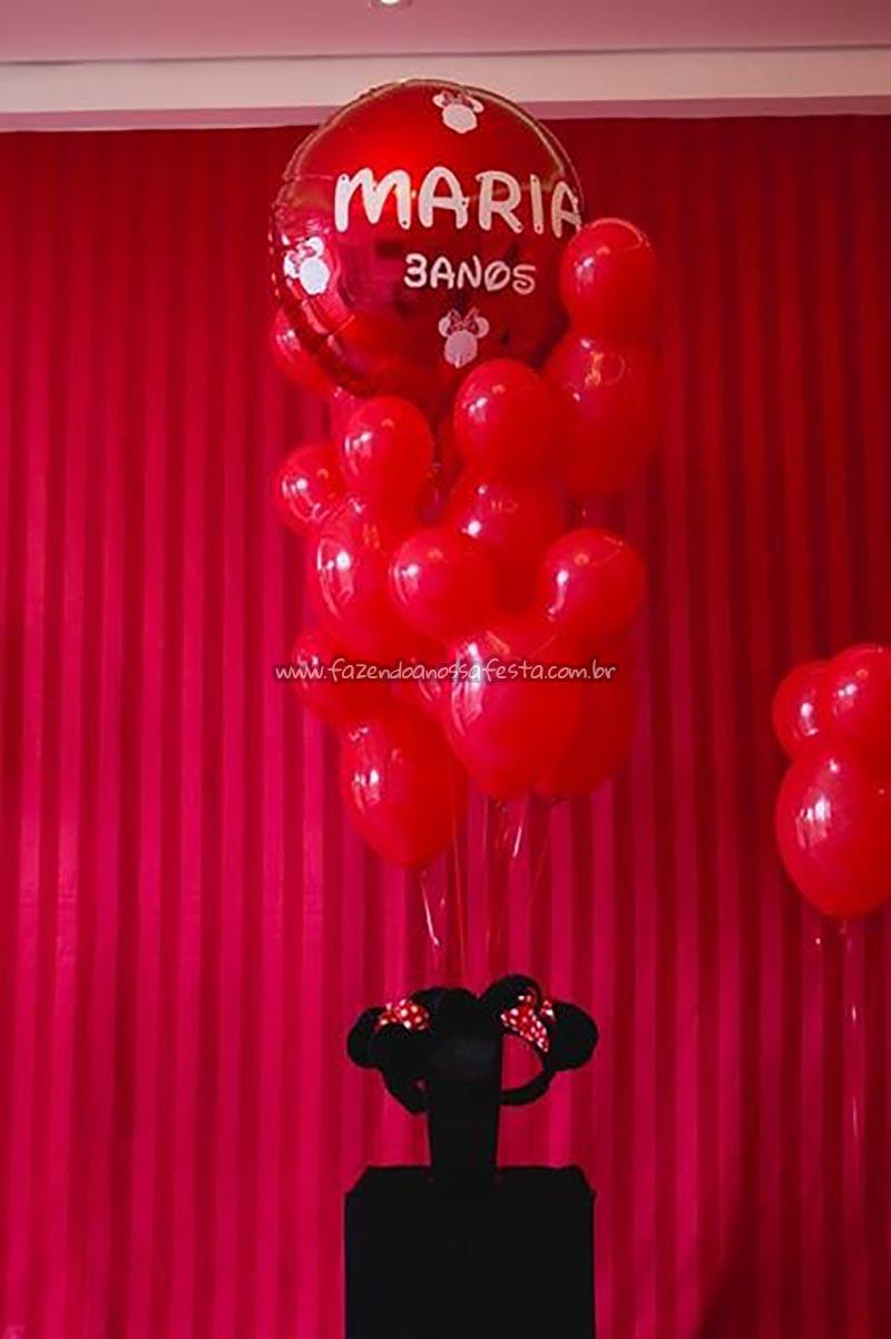 Balaoes Festa Minnie Vermelha da Maria