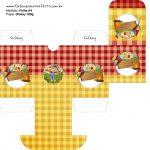 Baleiro Kit Festa Junina Vermelho e Amarelo