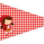 Bandeirinha Sanduiche 3 Chapeuzinho Vermelho