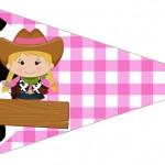 Bandeirinha Sanduiche 3 Fazendinha Menina