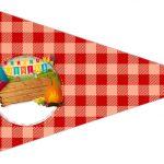 Bandeirinha Sanduiche 3 Festa Junina