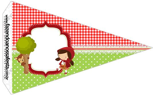 Bandeirinha Sanduiche 4 Chapeuzinho Vermelho