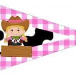 Bandeirinha Sanduiche 4 Fazendinha Menina