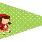 Bandeirinha Sanduiche 5 Chapeuzinho Vermelho