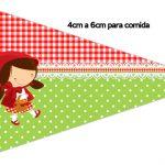 Bandeirinha Sanduiche Chapeuzinho Vermelho