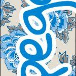 Bis 17 Dia das Mães Floral Azul