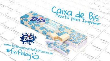 Caixa Bis Dia das Mães Floral Azul Modelo