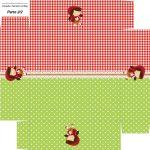 Caixa Bombom Personalizados Chapeuzinho Vermelho - Parte de baixo