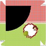 Caixa Bombom Personalizados Chapeuzinho Vermelho - Parte de cima