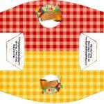 Caixa Cachorro-quente Kit Festa Junina Vermelho e Amarelo