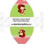 Caixa Vestido Chapeuzinho Vermelho